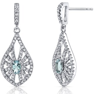 Oravo 14k White Chanedelier Gemstone Earrings