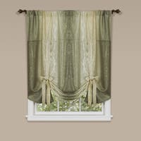 Achim Ombre Window Curtain with Tie Up Shade