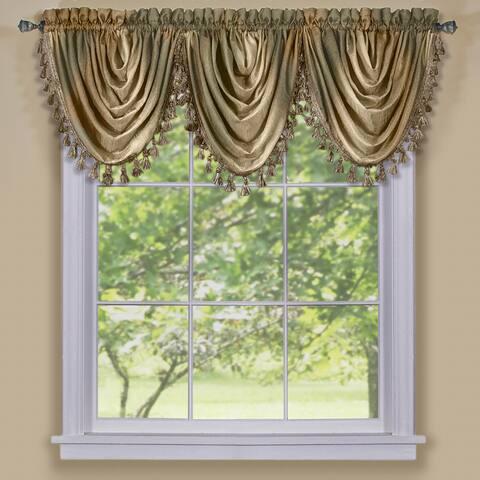 Achim Ombre Window Curtain Waterfall Valance