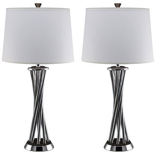 Nova Lighting Array Chrome Steel Table Lamp (Set of 2)