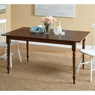 Simple Living Denver Turned Legs Walnut Rectangle Dining Table