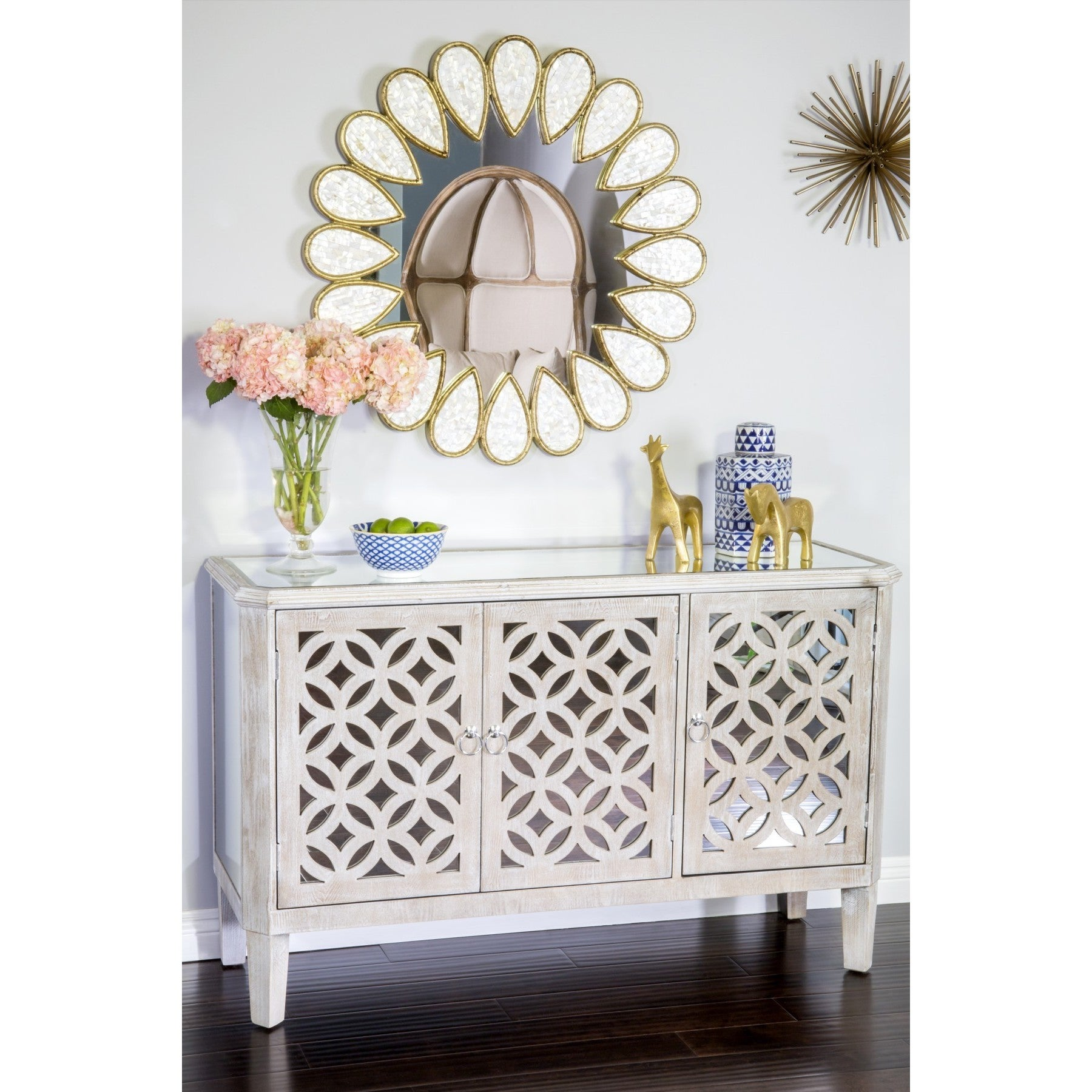 Statements by J Stacy Mirror Glass Buffet (natural), Grey