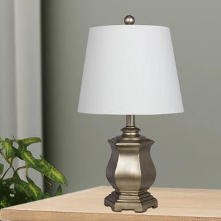 21 in. Resin Table Lamp In Champagne Gold Finish