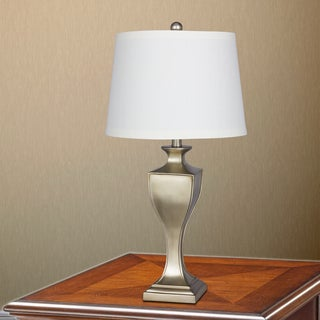 29 in. Resin Table Lamp in Champagne Gold