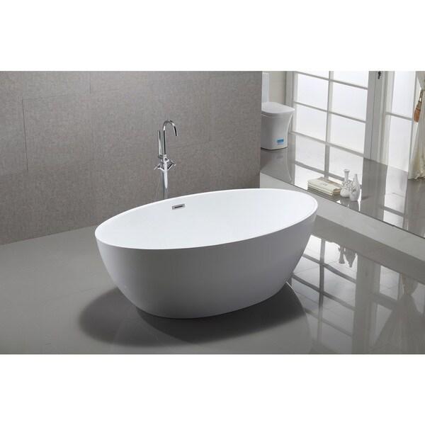 Shop Vanity Art 69 Quot Freestanding Acrylic Bathtub Modern
