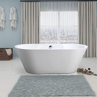 Vanity Art Freestanding Acrylic 67-inch Soaking Bathtub