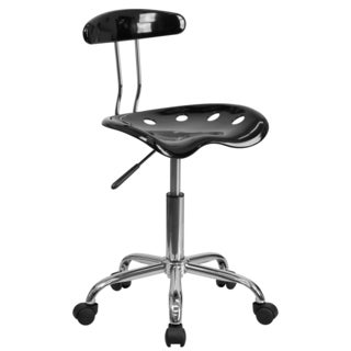 Saddle Black Home Office Chair with Tractor Seat