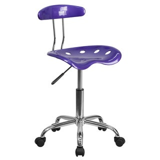 Saddle Violet Home Office Chair with Tractor Seat