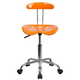 Saddle Orange Home Office Chair with Tractor Seat