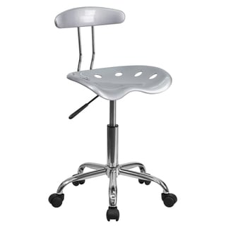 Saddle Home Office Silver Tractor Seat Chair