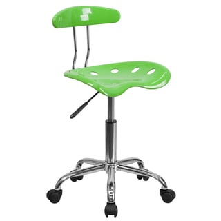Saddle Apple Green Home Office Chair with Tractor Seat