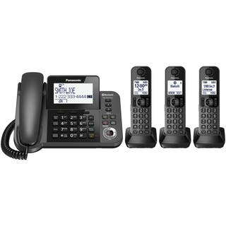 Panasonic Link2Cell Bluetooth Corded/Cordless Phone and Answering Machine|https://ak1.ostkcdn.com/images/products/12365484/P19191678.jpg?impolicy=medium