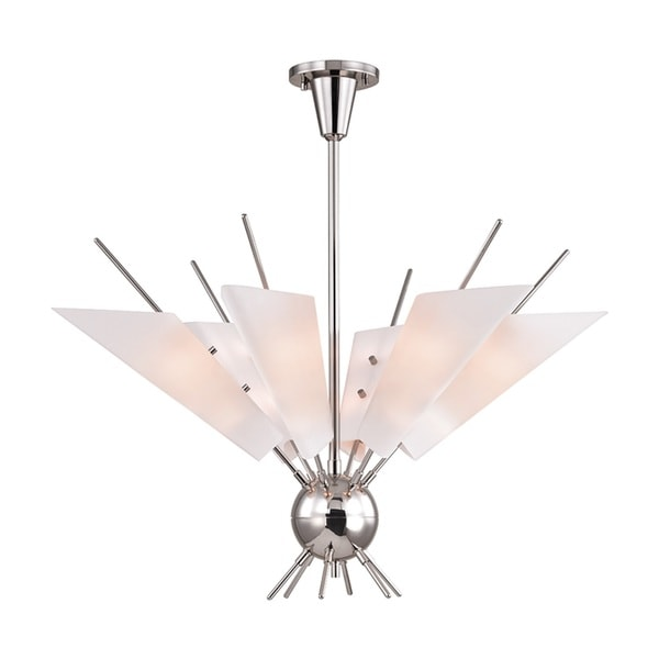 Hudson Valley Cooper 12-Light Polished Nickel Chandelier