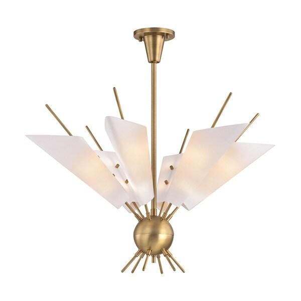 Hudson Valley Cooper 12-Light Aged Brass Chandelier