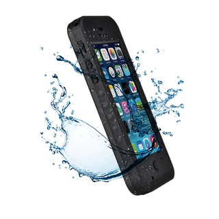 Waterproof Dirtproof Shock-Absorbing Black Bumper Phone Case Cover for Apple iPhone 5C