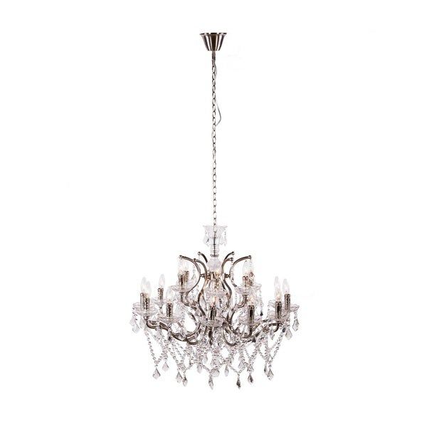 Hans Andersen Home Lillian Chandelier - Silver/Clear