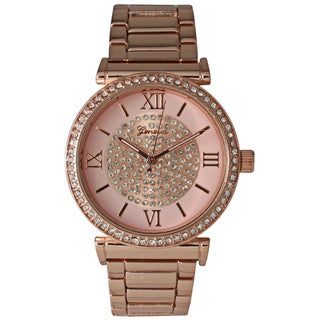 Olivia Pratt Women's Rhinestone Center Bracelet Watch
