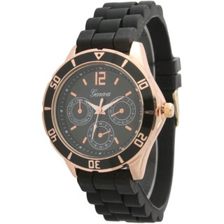 Olivia Pratt Silicone Band Sporty Tachymeter Decorative Chronograph Watch (2 options available)