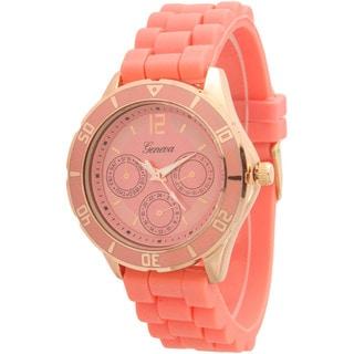 Olivia Pratt Silicone Band Sporty Tachymeter Decorative Chronograph Watch