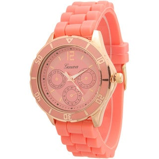 Olivia Pratt Silicone Band Sporty Tachymeter Decorative Chronograph Watch