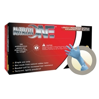 Nitrileron One Lightly Powdered Nitrile Gloves - Medium