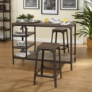 Simple Living Scholar Vintage Industrial 3-Piece Counter Height Dining Set & Bar \u0026 Pub Table Sets For Less | Overstock