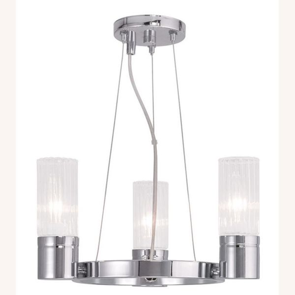 Livex Lighting Midtown 3 Light Polished Chrome Mini Chandelier