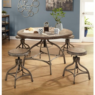 Simple Living Decker Adjustable Height Round Dining Set