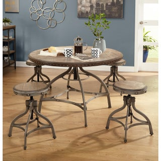 Simple Living Decker Adjustable Height Round Dining Set (2 options available)