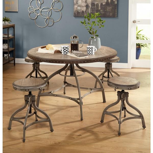 Simple Minimalist Dining Set: Shop Simple Living Decker Adjustable Height Round Dining