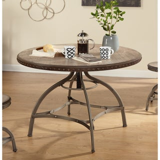 Simple Living Decker Nailhead Trim Adjustable Height Swivel Dining Table