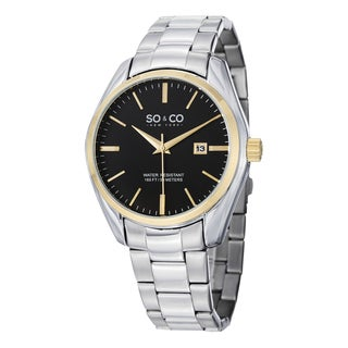 SO&CO New York Men's Quartz Madison Stainless Steel Link Bracelet Watch