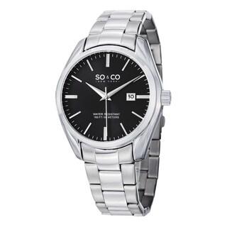 SO&CO New York Men's Quartz Madison Stainless Steel Watch