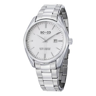 SO&CO New York Men's Madison Stainless Steel Link Quartz Bracelet Watch