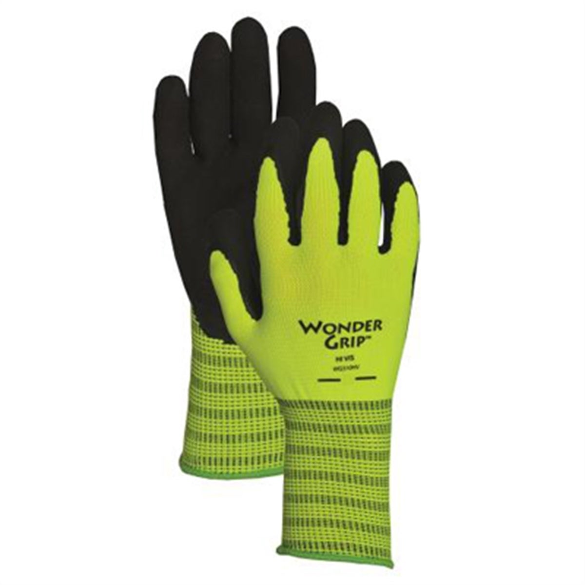 Atlas Glove Hi-Visibility Green Polyester Double Nitrile ...