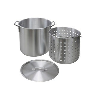 Chard 60-Quart Aluminum Pot with Lid and Basket
