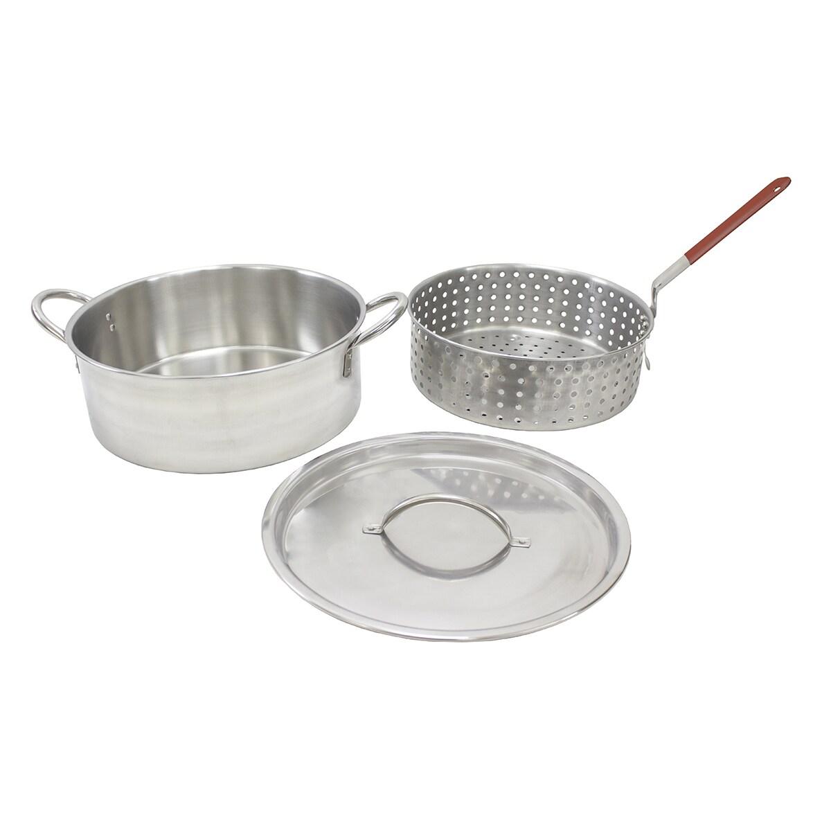 Chard Alum Pot Basket Red Hndl10.5qt