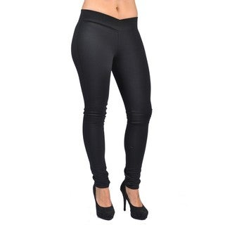 C'est Toi Black Cotton/Polyester/Spandex Pull-on Style Leggings