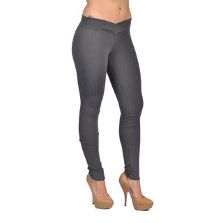 C'est Toi Spandex Polyester Charcoal Leggings