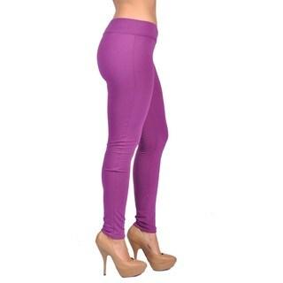 C'est Toi Royal Purple Pull-on Leggings