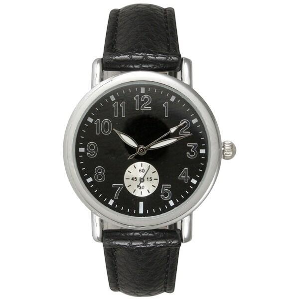 Olivia Pratt Women's Stainless Steel/Leather Watch
