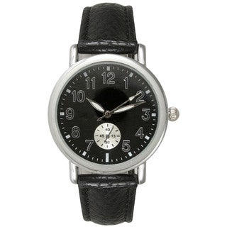 Olivia Pratt Women's Stainless Steel/Leather Watch