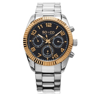 SO&CO New York Men's Madison Quartz Stainless Steel Link Bracelet Watch