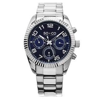 SO&CO New York Madison Men's Quartz Stainless Steel Link Bracelet Watch