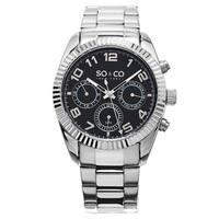 SO&CO New York Stainless Steel Men's Link Bracelet Madison Watch
