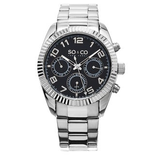 SO&CO New York Stainless Steel Men's Link Bracelet Madison Watch