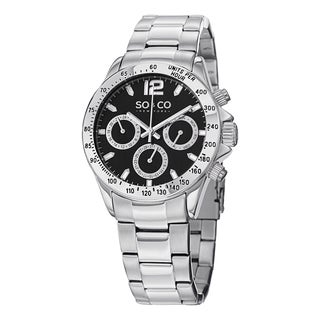 SO&CO New York Men's Monticello Quartz Stainless Steel Link Bracelet Watch