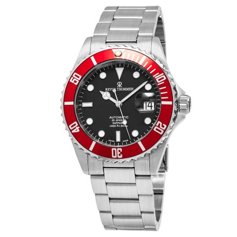 Revue Thommen Men's 17571.2136 'Diver' Black Dial Stainless Steel Swiss Automatic Watch