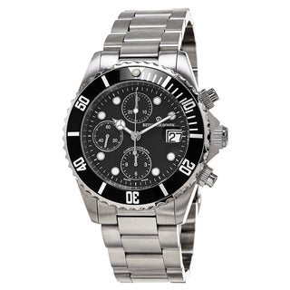 Revue Thommen 17571.6137 'Diver' Black Dial Stainless Steel Chronograph Swiss Automatic Watch