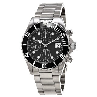 Revue Thommen 'Diver' Black Dial Stainless Steel Chronograph Swiss Automatic Watch